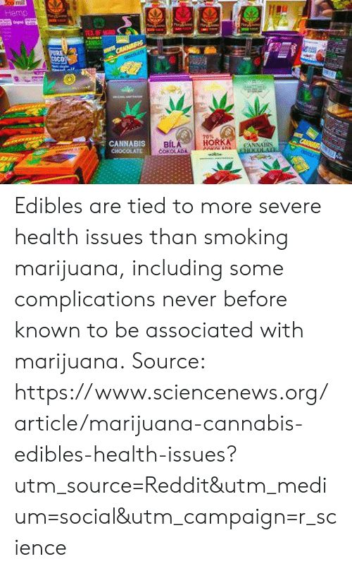 Hemp 70% CANNABIS BIL Edibles Are Tied to More Severe Health