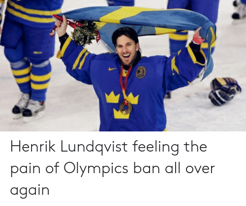 Henrik Lundqvist Feeling The Pain Of Olympics Ban All Over Again