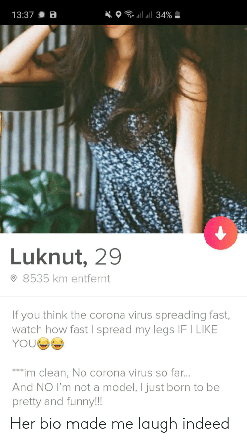 bio: Her bio made me laugh indeed