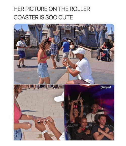 Cute, Girl Memes, and Her: HER PICTURE ON THE ROLLER  COASTER IS SOO CUTE  Disneland
