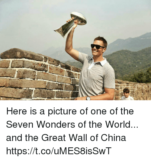 the-great-wall: Here is a picture of one of the Seven Wonders of the World... and the Great Wall of China https://t.co/uMES8isSwT