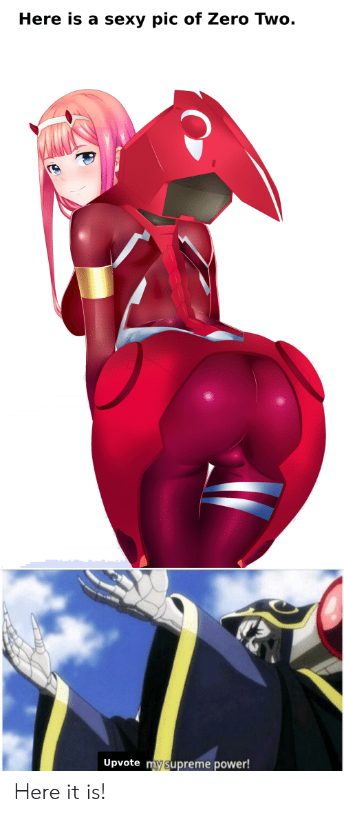 sexy pic: Here is a sexy pic of Zero Two.  Upvote mysupreme power! Here it is!