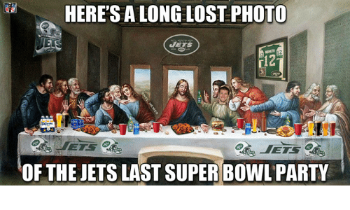 Nfl, Party, and Super Bowl: HERE SALONG LOST PHOTO  OF THE JETS LAST SUPER BOWL PARTY