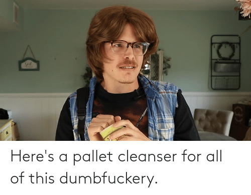 pallet: Here's a pallet cleanser for all of this dumbfuckery.