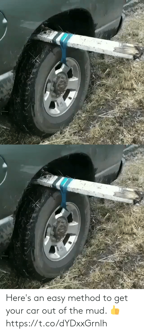 mud: Here's an easy method to get your car out of the mud. 👍 https://t.co/dYDxxGrnlh