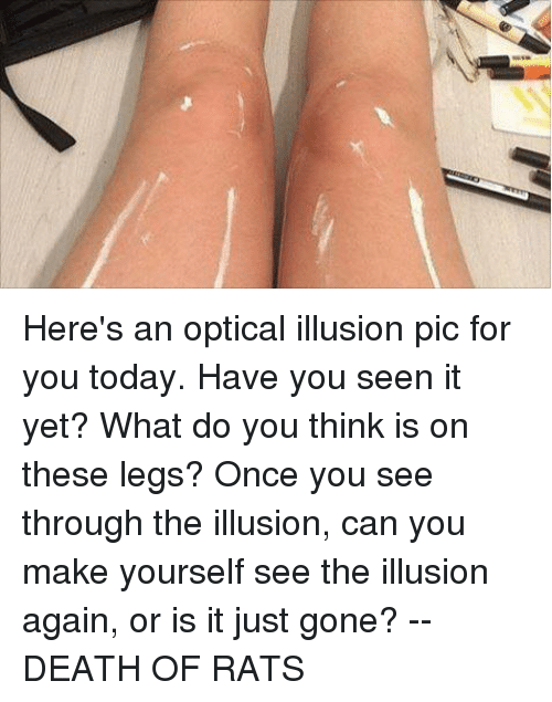 Heres How To Make This Optical >> Here S An Optical Illusion Pic For You Today Have You Seen It Yet
