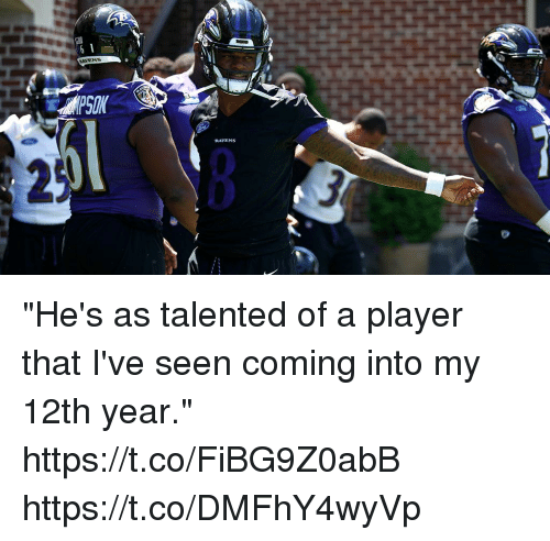 "Memes, 🤖, and Player: ""He's as talented of a player that I've seen coming into my 12th year."" https://t.co/FiBG9Z0abB https://t.co/DMFhY4wyVp"