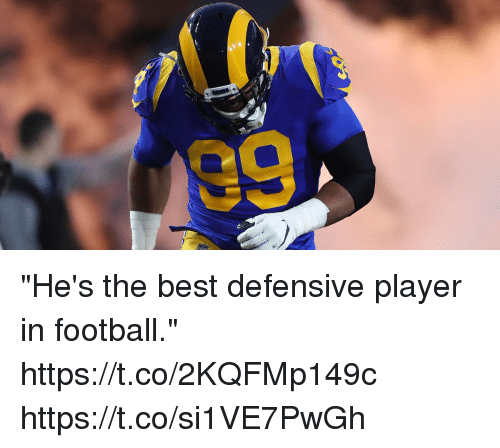 """Football, Memes, and Best: """"He's the best defensive player in football."""" https://t.co/2KQFMp149c https://t.co/si1VE7PwGh"""