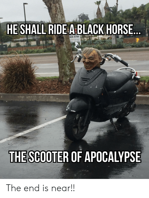 Heshall Ridea Black Horse 29 9700 The Scooter Of Apocalypse The End