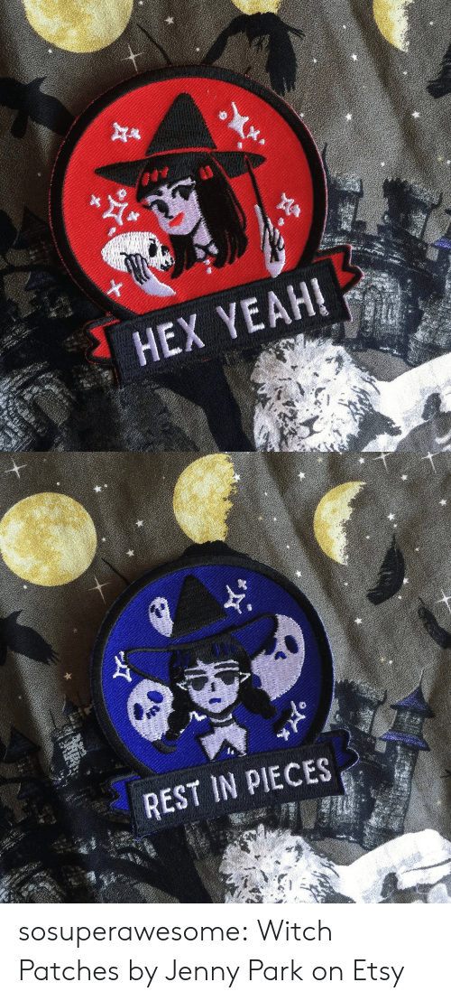patches: HEX YEAH!   REST IN PIECES sosuperawesome: Witch Patches by Jenny Park on Etsy