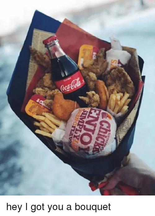 Valentine's Day, Happy, and Got: hey I got you a bouquet