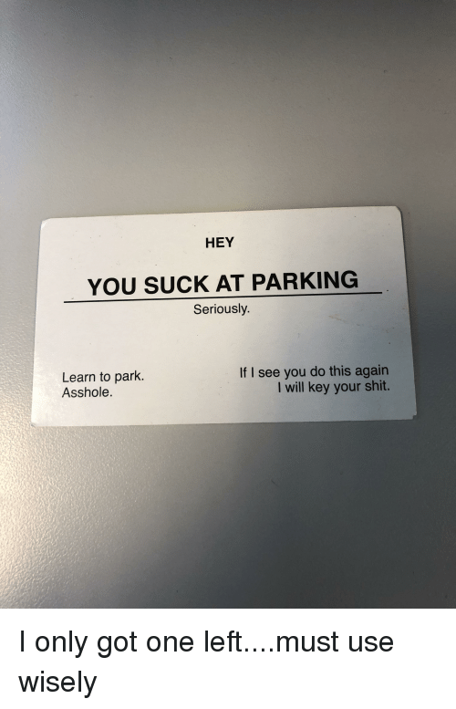 you suck asshole