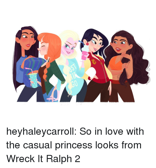 Love, Tumblr, and Blog: heyhaleycarroll:  So in love with the casual princess looks from Wreck It Ralph 2