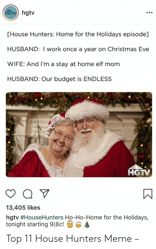 Hgtv House Hunters Home For The Holidays Episode Husband I