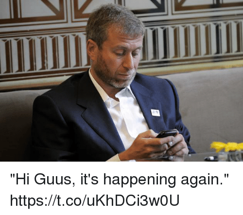 "Memes, 🤖, and Happening: ""Hi Guus, it's happening again."" https://t.co/uKhDCi3w0U"