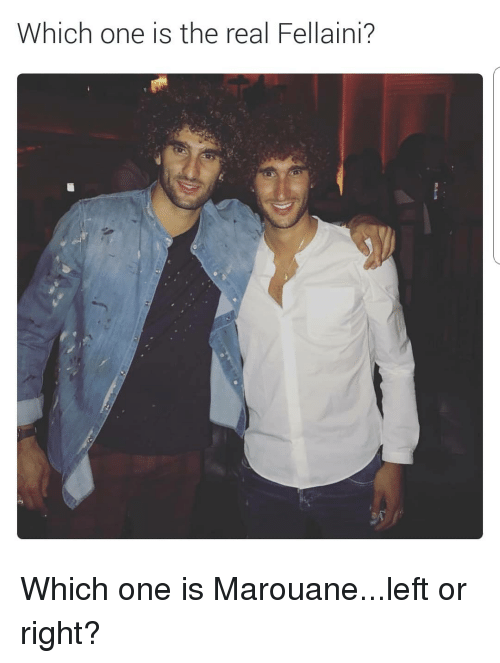 fellaini: hich one is the real Fellaini? Which one is Marouane...left or right?
