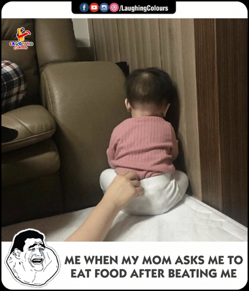 Food, Indianpeoplefacebook, and Mom: HING  ME WHEN MY MOM ASKS ME TO  EAT FOOD AFTER BEATING ME