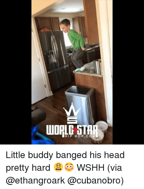 Head, Memes, and Wshh: HIP HOP. CO M Little buddy banged his head pretty hard 😩😳 WSHH (via @ethangroark @cubanobro)