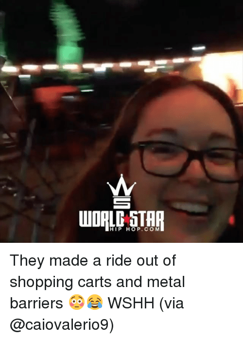 carts: HIP HOP. COM They made a ride out of shopping carts and metal barriers 😳😂 WSHH (via @caiovalerio9)