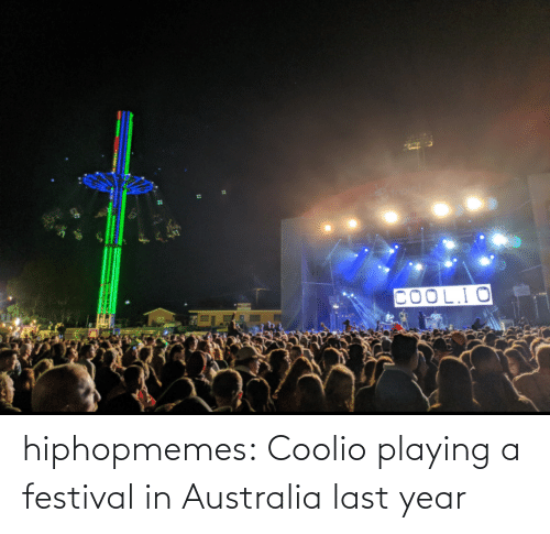 Australia: hiphopmemes:  Coolio playing a festival in Australia last year