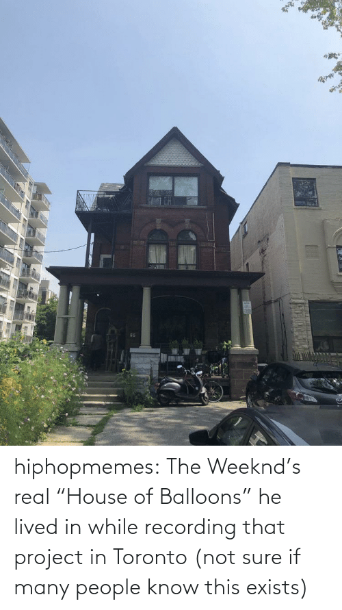 "Lived: hiphopmemes:  The Weeknd's real ""House of Balloons"" he lived in while recording that project in Toronto (not sure if many people know this exists)"