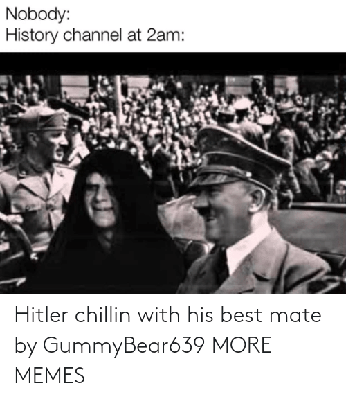 mate: Hitler chillin with his best mate by GummyBear639 MORE MEMES