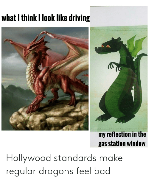 hollywood: Hollywood standards make regular dragons feel bad
