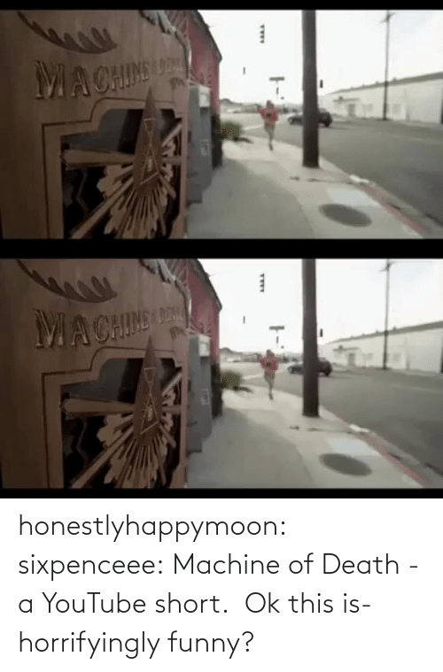 V: honestlyhappymoon: sixpenceee:  Machine of Death - a YouTube short.    Ok this is- horrifyingly funny?
