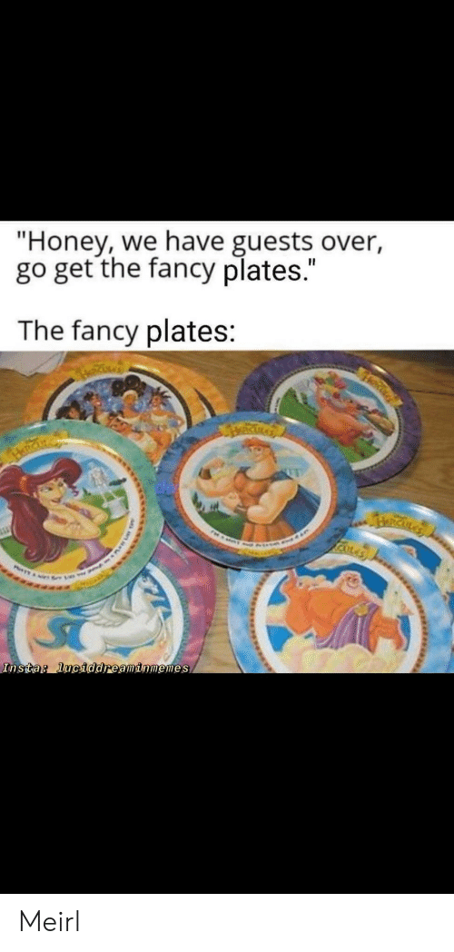 "insta: ""Honey, we have guests over,  go get the fancy plates.""  The fancy plates:  RICKLA  Insta: luciddreaminmemes Meirl"