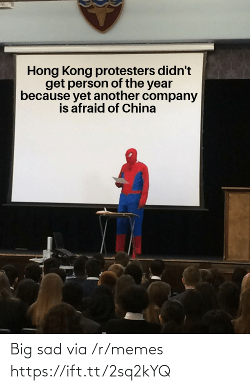 China: Hong Kong protesters didn't  get person of the year  because yet another company  is afraid of China Big sad via /r/memes https://ift.tt/2sq2kYQ