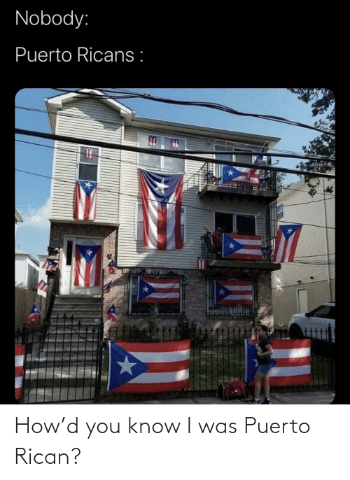 I Was: How'd you know I was Puerto Rican?