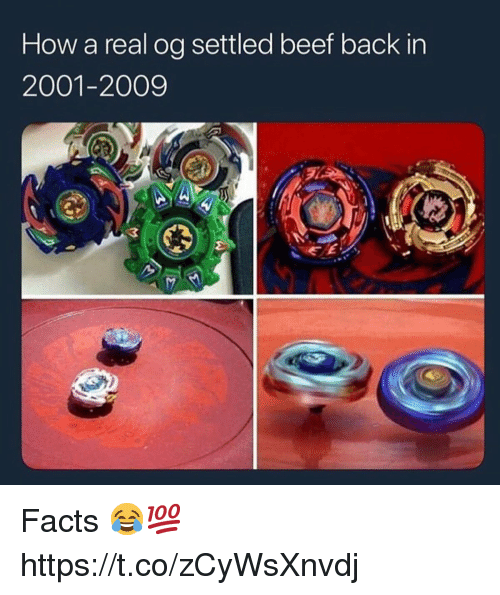 Beef, Facts, and Back: How a real og settled beef back in  2001-2009  3 Facts 😂💯 https://t.co/zCyWsXnvdj