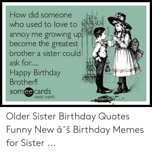 Admirable 25 Best Memes About Sister Birthday Quotes Funny Sister Personalised Birthday Cards Paralily Jamesorg