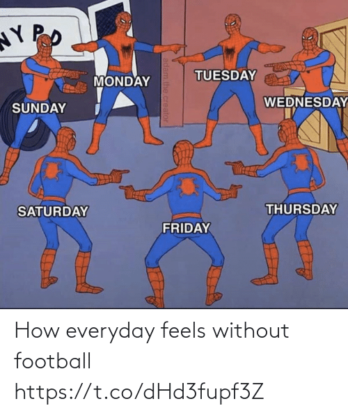 feels: How everyday feels without football https://t.co/dHd3fupf3Z