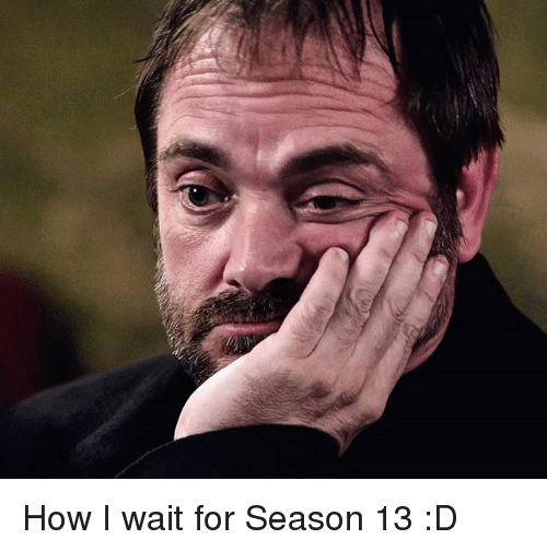 I Waiting: How I wait for Season 13 :D
