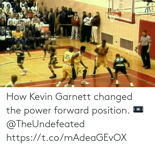 kevin: How Kevin Garnett changed the power forward position.   📼 @TheUndefeated https://t.co/mAdeaGEvOX