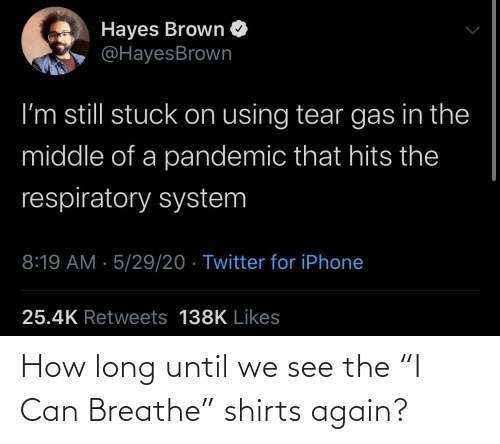 "Shirts: How long until we see the ""I Can Breathe"" shirts again?"
