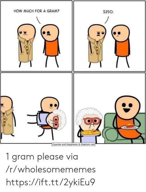 Cyanide and Happiness: HOW MUCH FORA GRAM?  $250  Cyanide and Happiness@ Explosm.net 1 gram please via /r/wholesomememes https://ift.tt/2ykiEu9