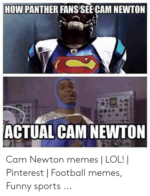 Cam Newton Memes: HOW PANTHER FANSSEE CAM NEWTON  ACTUAL CAM NEWTON Cam Newton memes   LOL!   Pinterest   Football memes, Funny sports ...