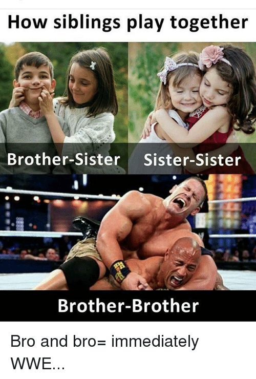 How Siblings Play Together Brother-Sister Sister-Sister