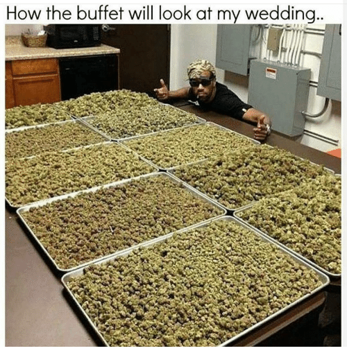 The Buffet: How the buffet will look at my wedding
