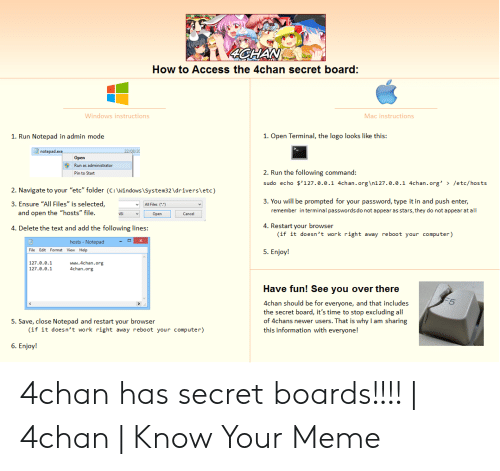 How to Access the 4chan Secret Board Windows Instructions