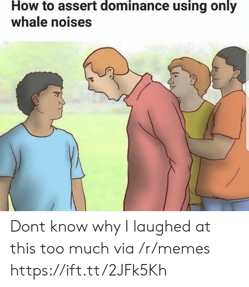 Memes, Too Much, and How To: How to assert dominance using only  whale noises Dont know why I laughed at this too much via /r/memes https://ift.tt/2JFk5Kh