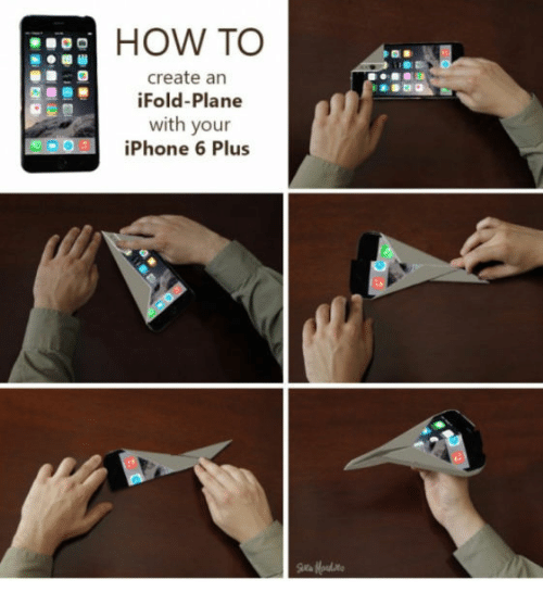 Iphone 6 Plus: HOW TO  create an  iFold-Plane  with your  iPhone 6 Plus