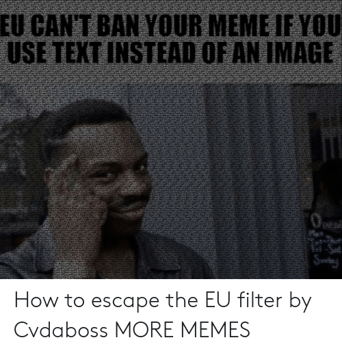 Filtered: How to escape the EU filter by Cvdaboss MORE MEMES