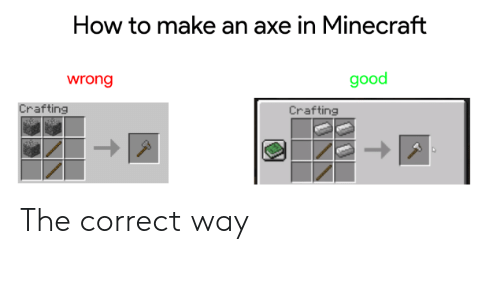 how to make axe minecraft