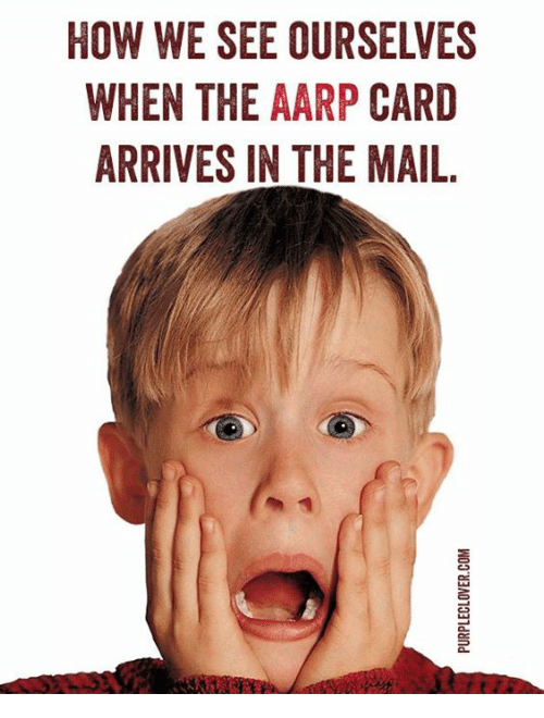 aarp: HOW WE SEE OURSELVES  WHEN THE AARP CARD  ARRIVES IN THE MAIL  WO3'a3A0-03-dand  ED L.  RPE  URH  OAT  SHS  ETE  ER  WHR  OWA