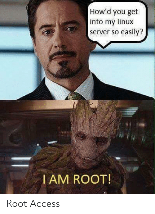 Linux: How'd you get  into my linux  server so easily?  I AM ROOT! Root Access