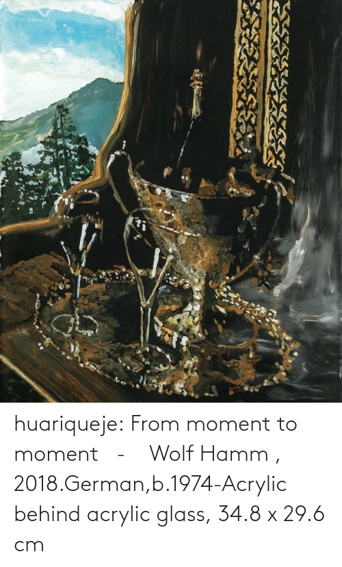 moment: huariqueje:    From moment to moment   -      Wolf Hamm  , 2018.German,b.1974-Acrylic behind acrylic glass, 34.8 x 29.6 cm