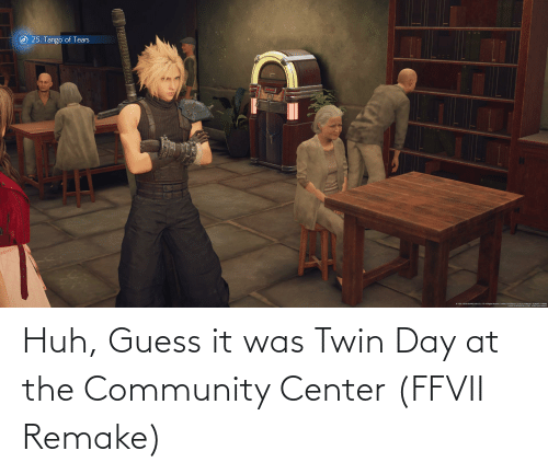 guess.it: Huh, Guess it was Twin Day at the Community Center (FFVII Remake)